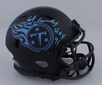 "Earl Campbell Signed Titans Eclipse Alternate Speed Mini-Helmet Inscribed ""HOF 91"" (JSA COA) at PristineAuction.com"