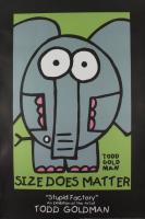 """Todd Goldman """"Size Does Matter"""" Fine Art 24x36 Lithograph Poster (See Description) at PristineAuction.com"""