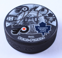 Jeremy Roenick Signed 2004 Stanley Cup Playoffs Semifinals Logo Hockey Puck (JSA COA) at PristineAuction.com