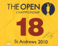 Louis Oosthuizen Signed The Open Championship Pin Flag (JSA COA) at PristineAuction.com