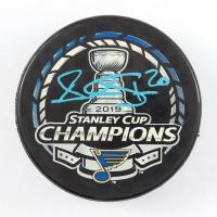 Alexander Steen Signed Blues 2019 Stanley Cup Champions Logo Hockey Puck (JSA COA & Fanatics Hologram) at PristineAuction.com