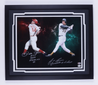 """Pete Rose & Jose Canseco Signed 22x26 Custom Framed Photo Display Inscribed """"Hit's 4,256 Steroid's 0"""" & """"Godfather of Steroids"""" (JSA COA & Rose Hologram) (See Description) at PristineAuction.com"""