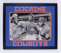 "Dwight ""Doc"" Gooden, Darryl Strawberry & Mike Tyson Signed 22x26 Custom Framed Photo Display (Fiterman Hologram & PSA Hologram) at PristineAuction.com"