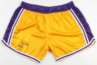 Kareem Abdul Jabbar Signed Lakers Throwback Basketball Shorts (PSA COA) at PristineAuction.com