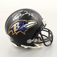 Ray Lewis Signed Ravens Mini Helmet (Beckett COA) at PristineAuction.com