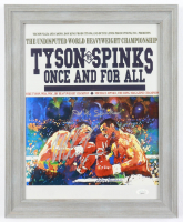Mike Tyson & Michael Spinks Signed 13x16 Framed Photo (JSA COA) (See Description) at PristineAuction.com