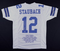 Roger Staubach Signed Career Highlight Stat Jersey (Beckett COA) at PristineAuction.com