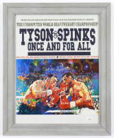 Mike Tyson & Michael Spinks Signed 13x16 Framed Photo Display (JSA COA) (See Description) at PristineAuction.com