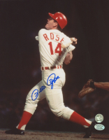 Pete Rose Signed Reds 8x10 Photo (Stacks of Plaques COA & Rose Hologram) at PristineAuction.com