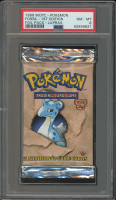 1999 Pokemon Wizards of the Coast Fossil 1st Edition Lapras Booster Pack (PSA 8) at PristineAuction.com
