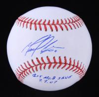 "Manny Corpas Signed OML Baseball Inscribed ""1st MLB Save 7.7.07"" (JSA COA) at PristineAuction.com"