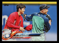 Shohei Ohtani / Ichiro Suzuki 2018 Topps Update #US153 Japan's Finest at PristineAuction.com