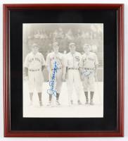 Joe DiMaggio & Frank Crosetti Signed 12x13 Yankees Custom Framed Photo Display (JSA LOA) (See Description) at PristineAuction.com