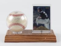 Frank Thomas Signed OAL Baseball With Card Display (JSA COA & MLB Hologram) at PristineAuction.com