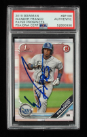Wander Franco Signed  2019 Bowman Prospects #BP100 (PSA Encapsulated) at PristineAuction.com