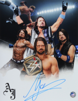 A.J. Styles Signed WWE 11x14 Photo (Pro Player Hologram) at PristineAuction.com