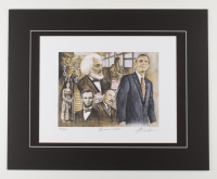 """Anthony Douglas Signed """"Promise Land"""" LE 16x20 Custom Matted Print (PA LOA) at PristineAuction.com"""