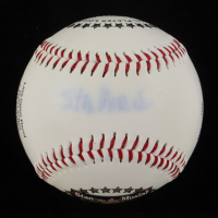 Stan Musial Signed LE Stan Musial Career Stat Logo Baseball (PSA COA) at PristineAuction.com