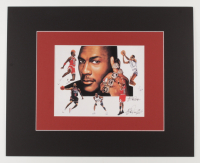 """Anthony Douglas Signed """"Air Jordans"""" LE 16x20 Custom Matted Print (PA LOA) at PristineAuction.com"""