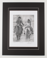 """Anthony Douglas Signed """"The Cowboys"""" LE 16x20 Custom Matted Print (PA LOA) at PristineAuction.com"""
