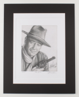 "Anthony Douglas Signed ""The Duke"" LE 16x20 Custom Matted Print (PA LOA) at PristineAuction.com"