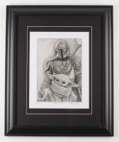 "Anthony Douglas Signed ""Mandalorian"" LE 19.5x23.5 Custom Framed Print Display (PA LOA) at PristineAuction.com"