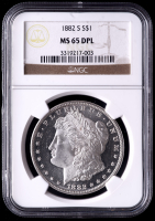 1882-S Morgan Silver Dollar (NGC MS65 Deep Mirror Proof Like) at PristineAuction.com