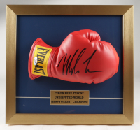 Mike Tyson Signed 14x15 Custom Framed Boxing Glove Display (PSA COA) at PristineAuction.com