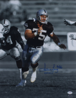 """Howie Long Signed Raiders 16x20 Photo Inscribed """"HOF /00"""" (PSA COA & Long Hologram) at PristineAuction.com"""