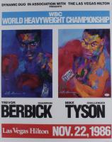 "Mike Tyson Signed LeRoy Neiman ""Berbick vs Tyson"" 23x29 Lithograph (PSA COA) (See Description) at PristineAuction.com"