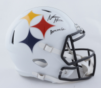 "Najee Harris Signed Steelers Full-Size AMP Alternate Speed Helmet Inscribed ""Here We Go..."" (Fanatics Hologram) (See Description) at PristineAuction.com"