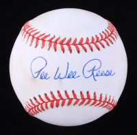 Pee Wee Reese Signed ONL Baseball (JSA COA) (See Description) at PristineAuction.com