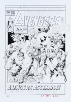 """Arthur Adams Signed """"Avengers"""" #100 13x19 Cover Print Inscribed """"6 - 2021"""" (JSA COA) at PristineAuction.com"""