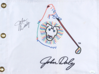 """John Daly Signed """"Grip It and Rip It"""" Golf Pin Flag (JSA COA) (See Description) at PristineAuction.com"""