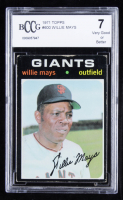 Willie Mays 1971 Topps #600 (BCCG 7) at PristineAuction.com