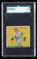 Jimmy Foxx 1934 Goudey #1 (SGC A) at PristineAuction.com