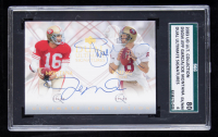 Joe Montana / Steve Young 2003 Ultimate Collection Ultimate Signatures Duals #DSMY (SGC 6) at PristineAuction.com
