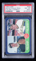 Eric Plunk / Jose Canseco 1986 Fleer #649 RC (PSA 8) at PristineAuction.com