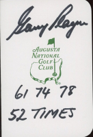 """Gary Player Signed Augusta National Golf Club Score Card Inscribed """"61 74 78"""" & """"52 Times"""" (JSA COA) at PristineAuction.com"""