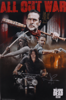 "Jeffrey Dean Morgan & Norman Reedus Signed ""The Walking Dead"" 24x36 Poster Inscribed ""Negan"" & ""Daryl"" (Radtke Hologram) at PristineAuction.com"