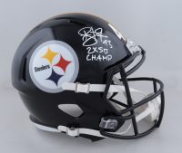 """Troy Polamalu Signed Steelers Full-Size Speed Helmet Inscribed """"2x SB Champ"""" (Beckett Hologram) at PristineAuction.com"""