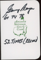 """Gary Player Signed Augusta National Golf Club Score Card Inscribed """"61, 74, 78"""" & """"52 Times (Record)"""" (JSA COA) at PristineAuction.com"""