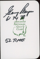 """Gary Player Signed Augusta National Golf Club Score Card Inscribed """"61, 74, 78"""" & """"52 Times"""" (JSA COA) at PristineAuction.com"""