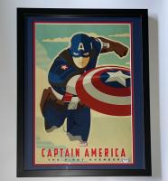"Chris Evans Signed ""Captain America: The First Avenger"" 15x19 Custom Framed Display (PSA COA & AutographCOA LOA) at PristineAuction.com"
