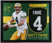 Brett Favre Signed 35x43 Custom Framed Jersey Display (Radtke Hologram) at PristineAuction.com