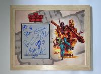 """The Suicide Squad"" 18x22 Custom Framed Display Cast-Signed by (11) with James Gunn, Margot Robbie, Pete Davidson, Joel Kinnaman (AutographCOA COA & LOA) at PristineAuction.com"