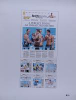 "Michael Phelps Signed ""Sports Sunday"" Olympics 17x22 Print (Beckett COA) at PristineAuction.com"