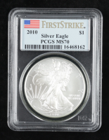 2010 American Silver Eagle $1 One Dollar Coin - First Strike (PCGS MS70) at PristineAuction.com