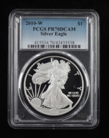 2010-W American Silver Eagle $1 One Dollar Coin (PCGS PR70 DCAM) at PristineAuction.com
