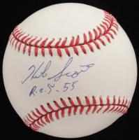 "Herb Score Signed OAL Baseball Inscribed ""R.O.Y. 55""(JSA COA) at PristineAuction.com"